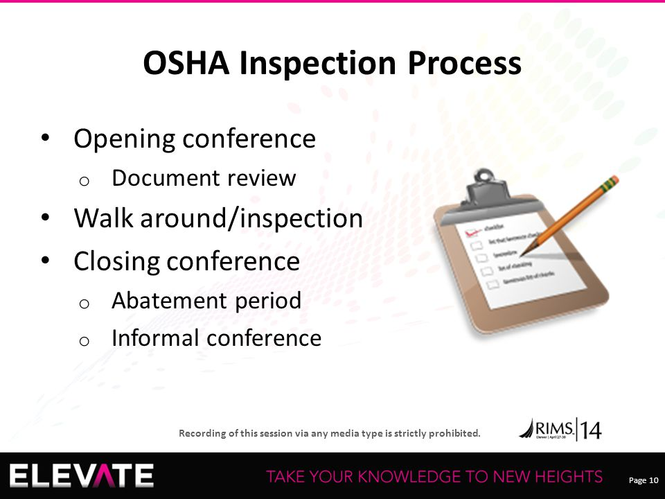 OSHA Inspection Process