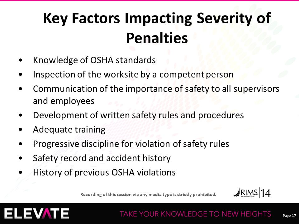 Key Factors Impacting Severity of Penalties