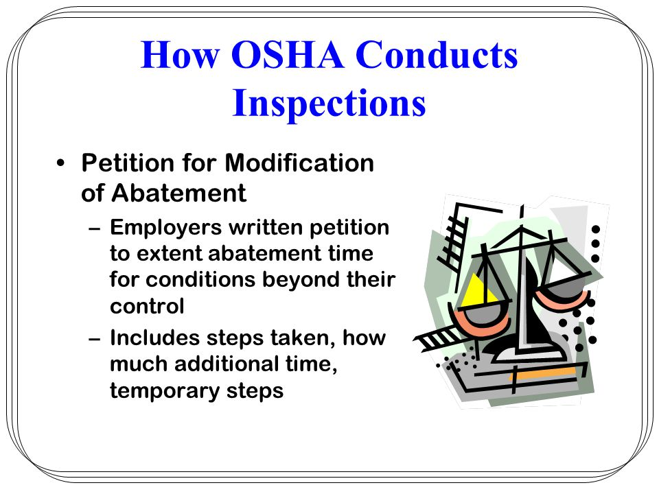 How OSHA Conducts Inspections
