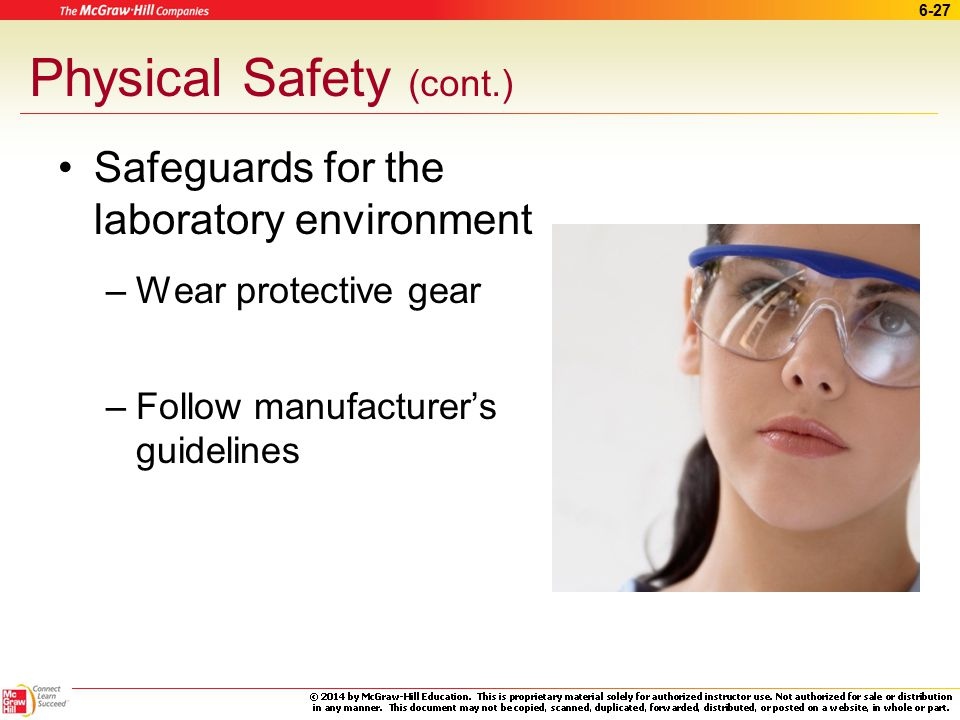 Physical Safety (cont.)