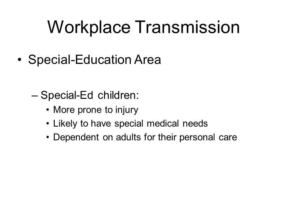 Workplace Transmission