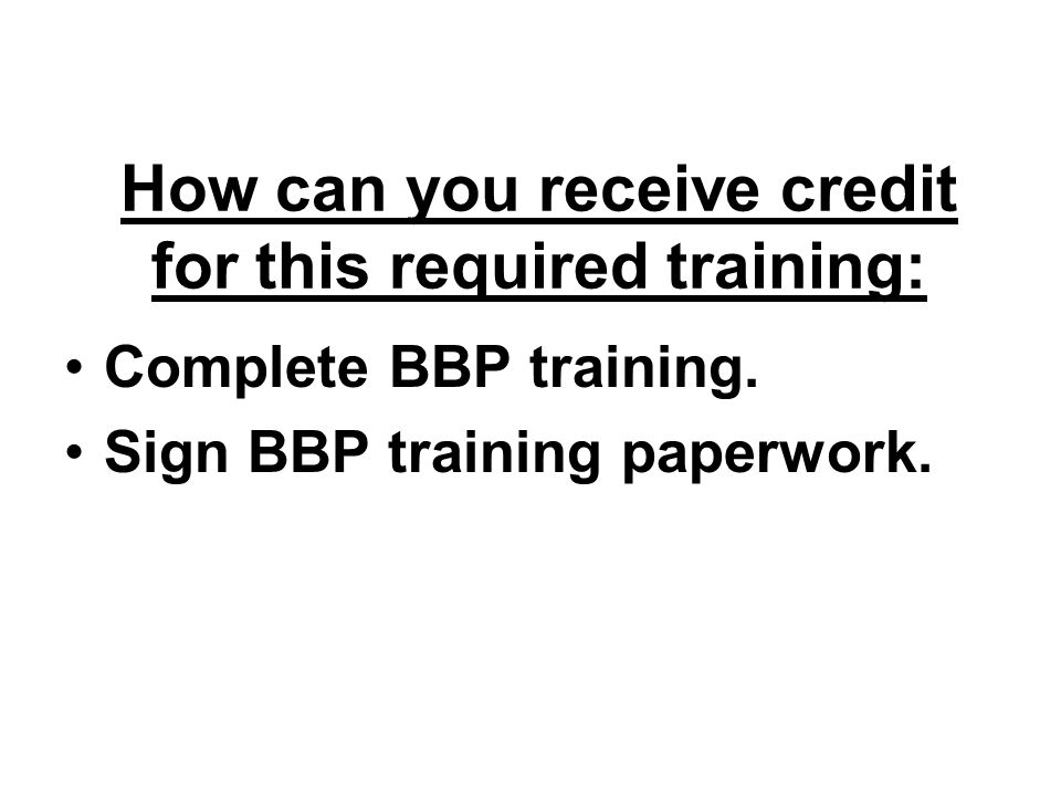 How can you receive credit for this required training: