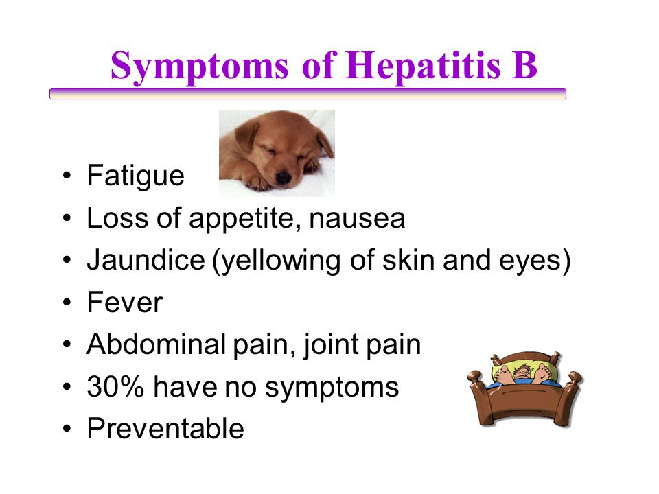 Symptoms of Hepatitis B