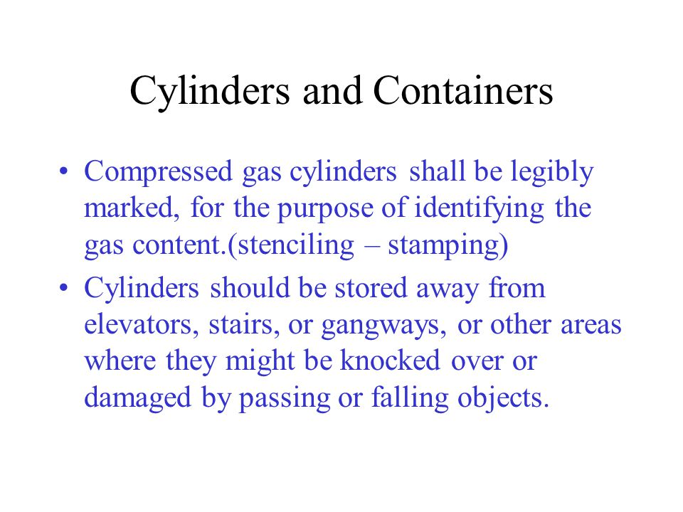 Cylinders and Containers