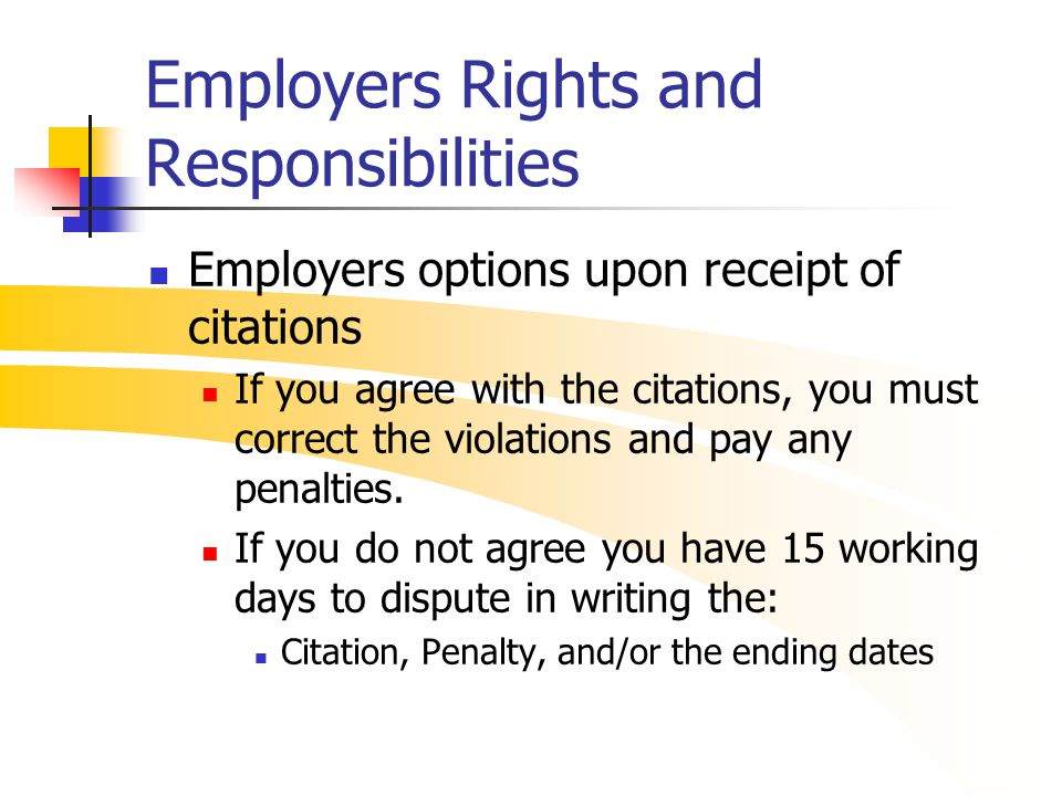 employer rights and responsibilities workbook essay Employers and employees have formal rights and responsibilities under discrimination, privacy, and work health and safety legislation.