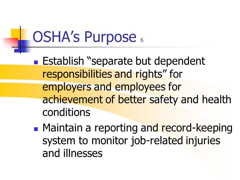 OSHA's Purpose 6