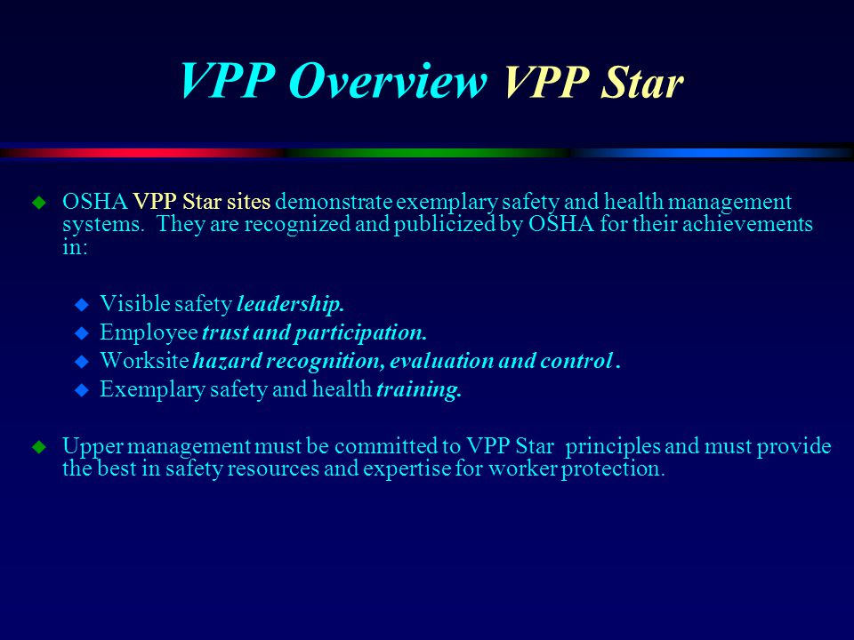VPP Overview VPP Star
