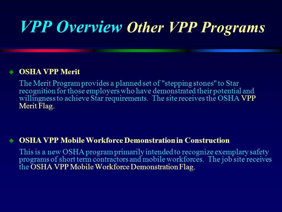 VPP Overview Other VPP Programs