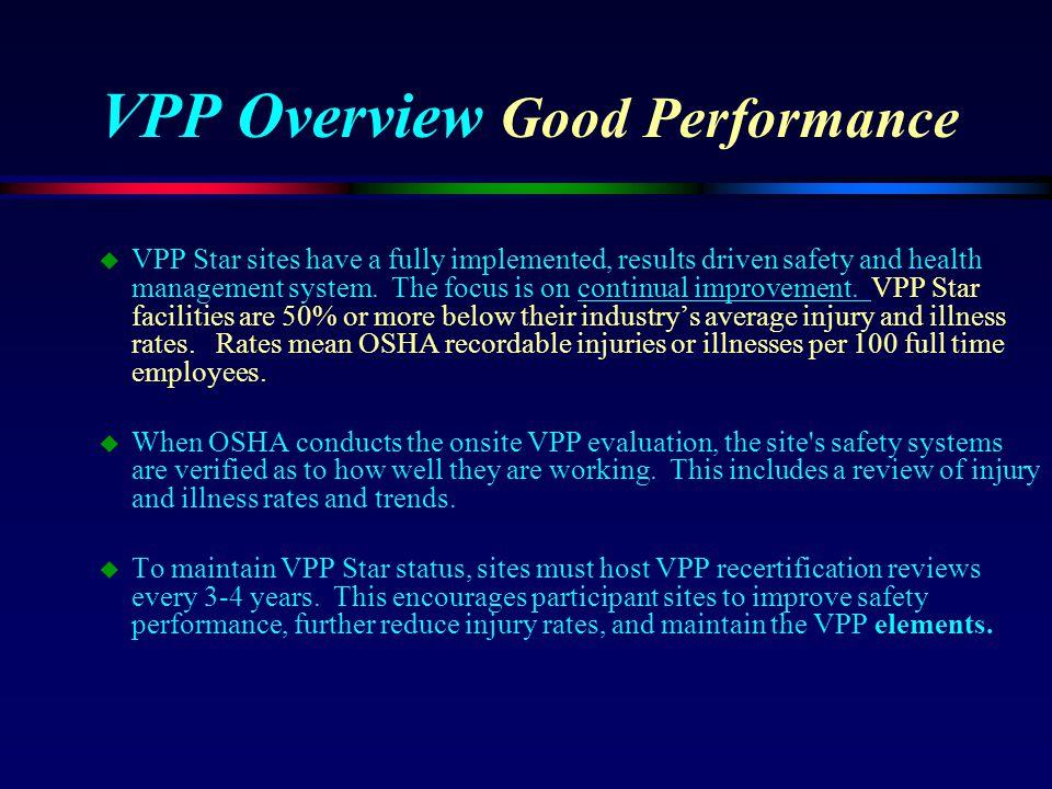 VPP Overview Good Performance