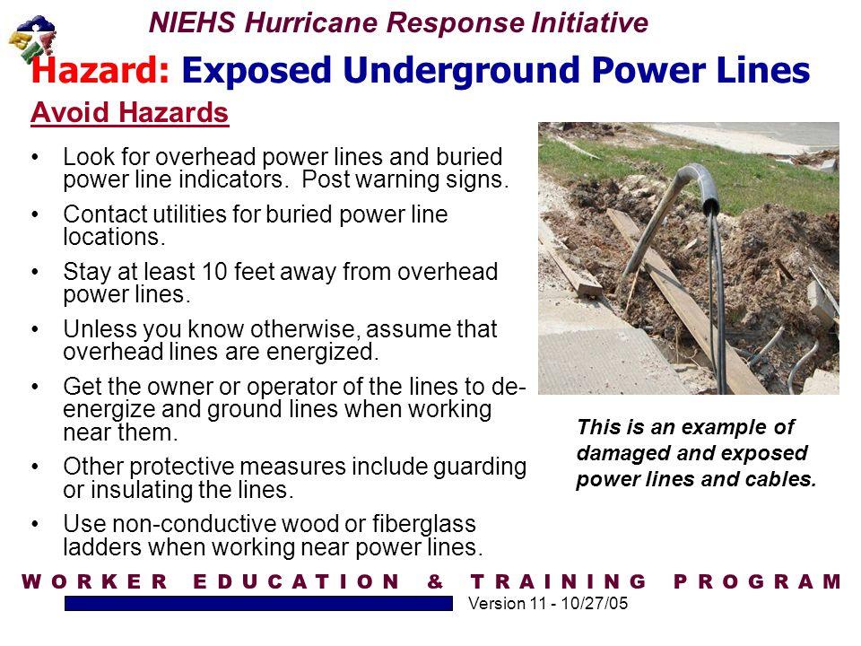 Hazard: Exposed Underground Power Lines