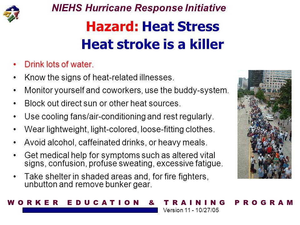 Hazard: Heat Stress Heat stroke is a killer