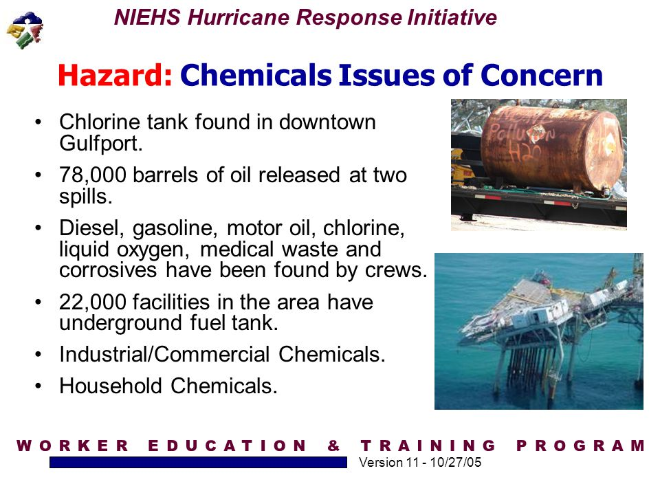 Hazard: Chemicals Issues of Concern