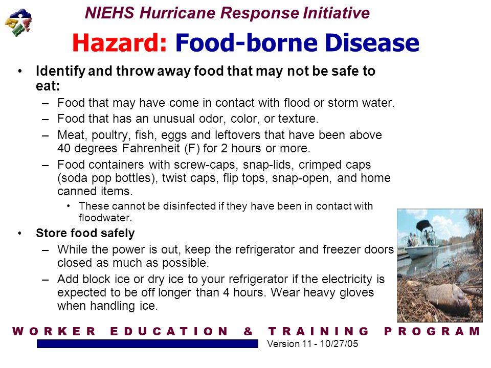 Hazard: Food-borne Disease