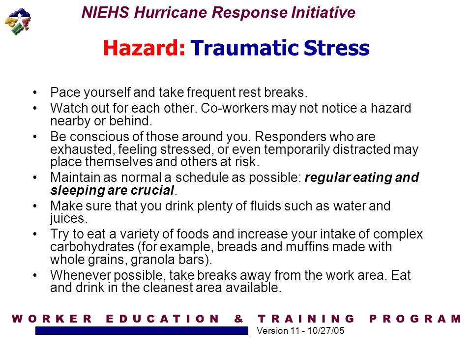 Hazard: Traumatic Stress