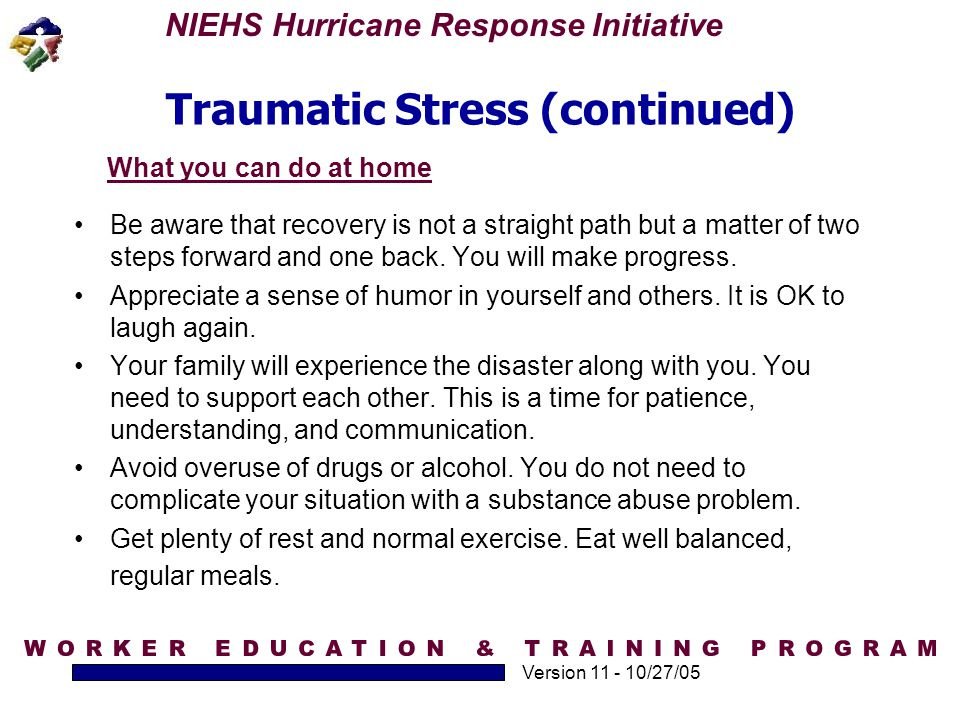 Traumatic Stress (continued)