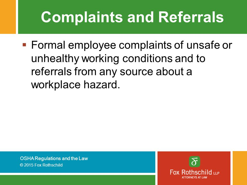 Complaints and Referrals