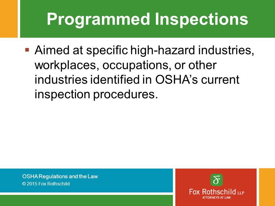 Programmed Inspections