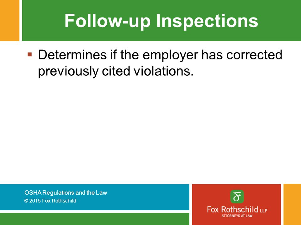 Follow-up Inspections