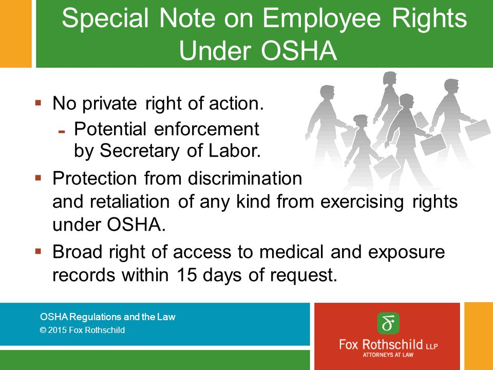 Special Note on Employee Rights Under OSHA