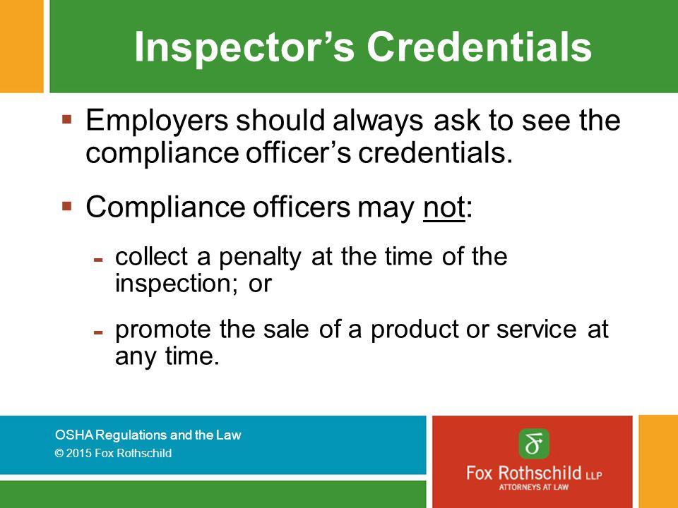 Inspector's Credentials