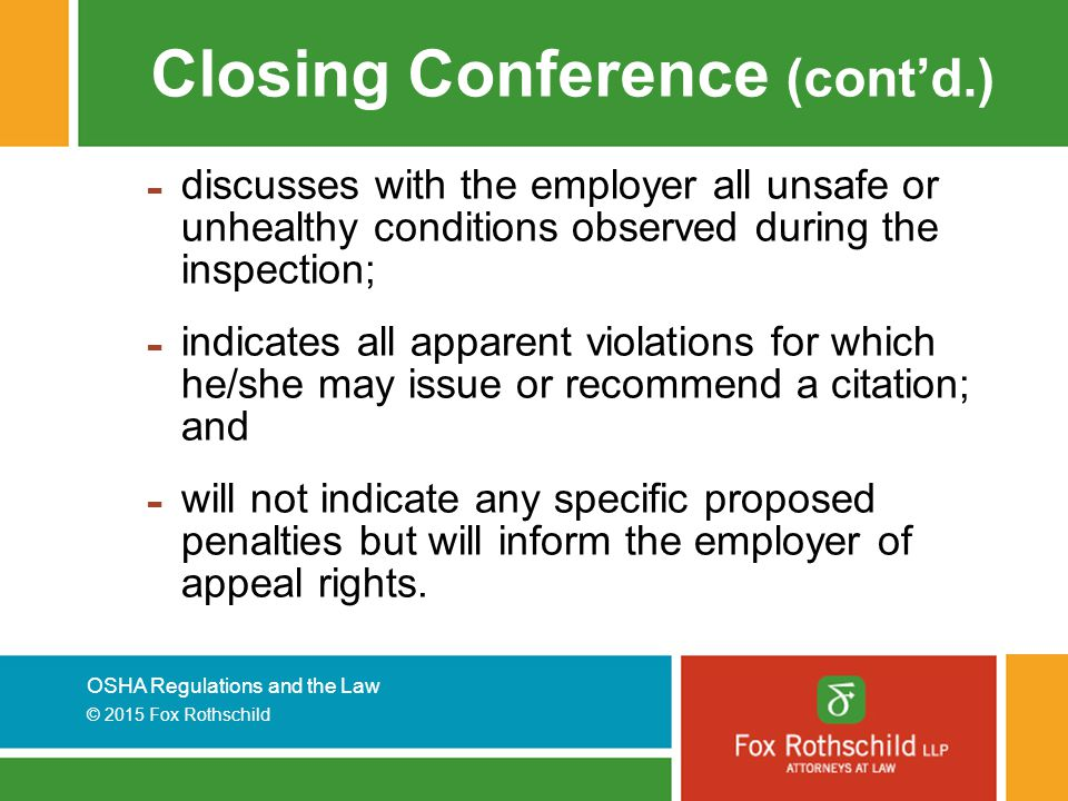 Closing Conference (cont'd.)
