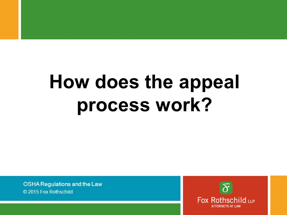How does the appeal process work
