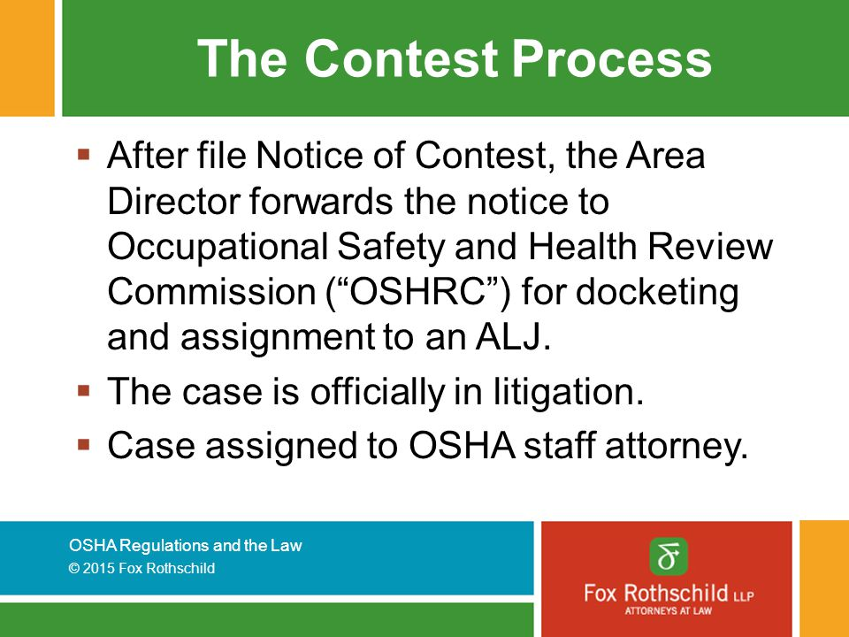 The Contest Process