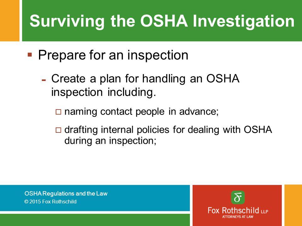 Surviving the OSHA Investigation