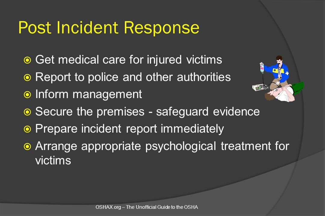 Post Incident Response