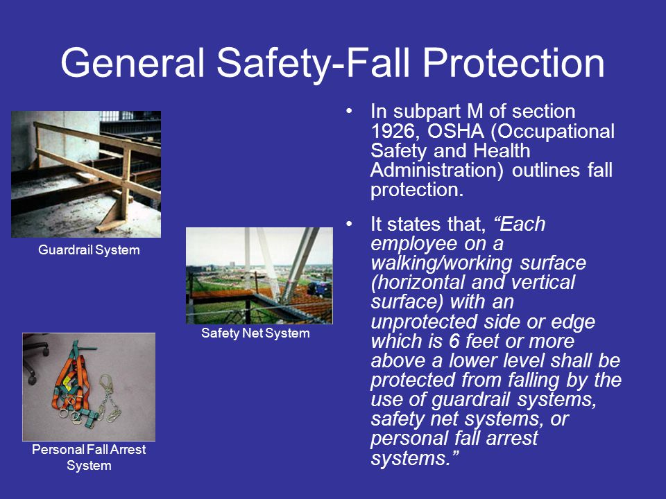 General Safety-Fall Protection