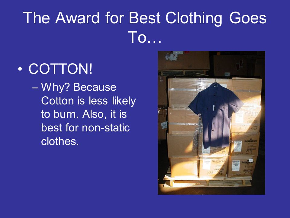 The Award for Best Clothing Goes To…