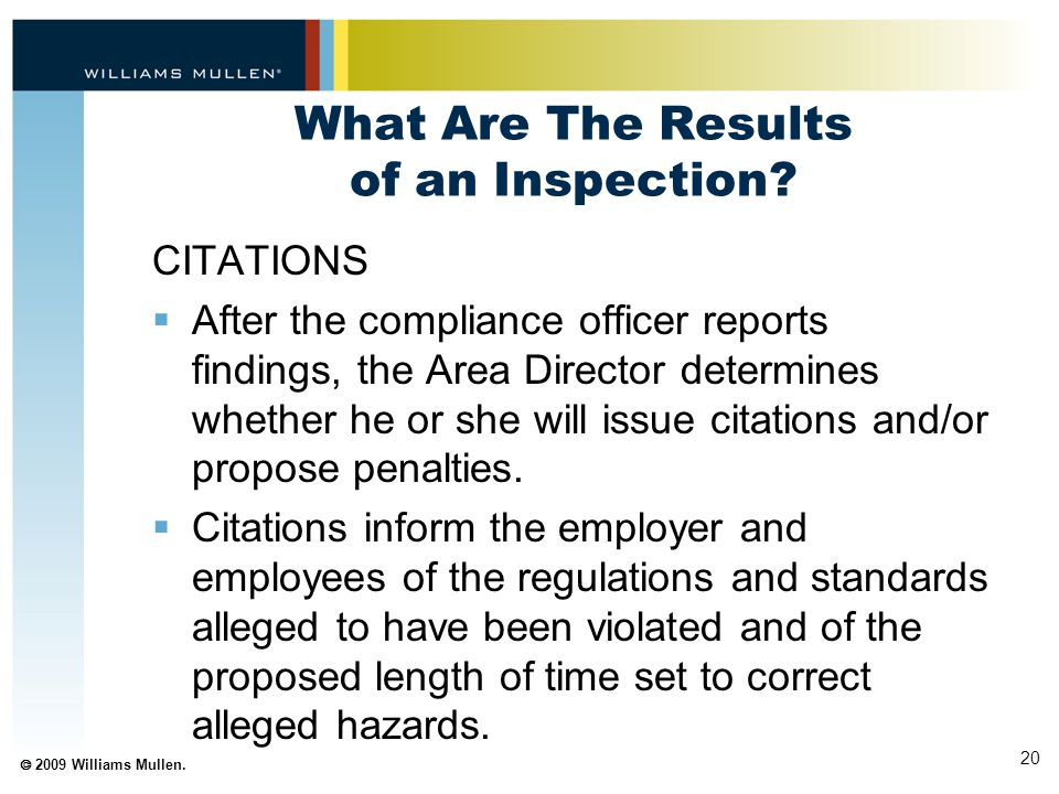 What Are The Results of an Inspection