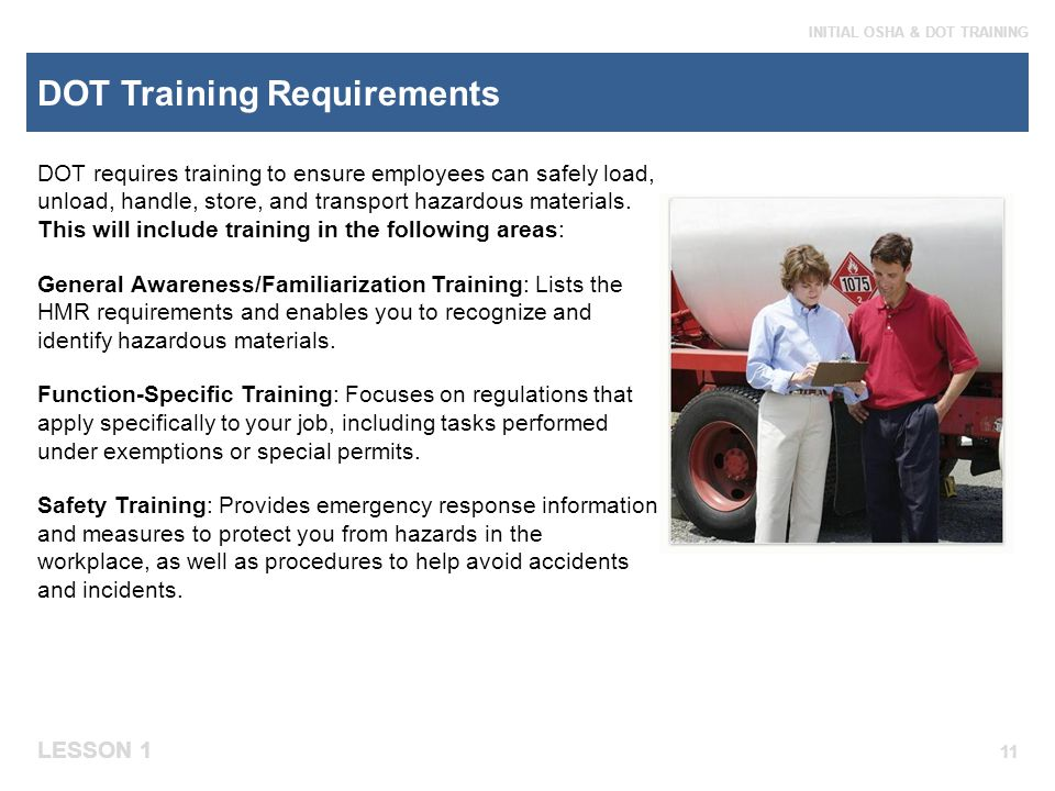 DOT Training Requirements