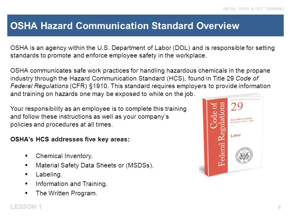 OSHA Hazard Communication Standard Overview