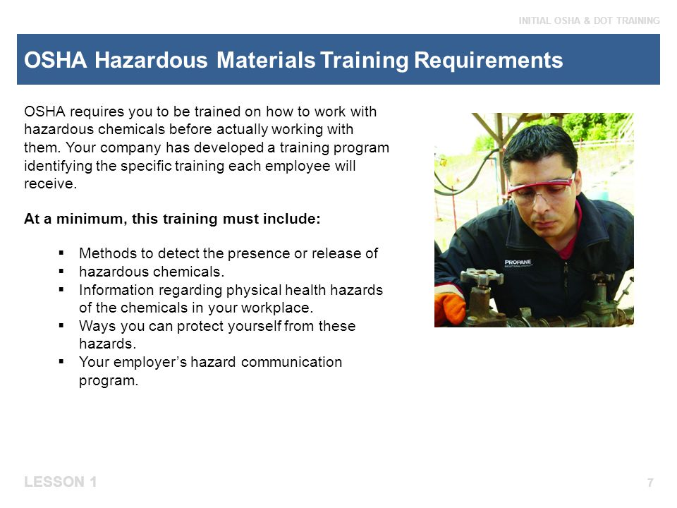 OSHA Hazardous Materials Training Requirements