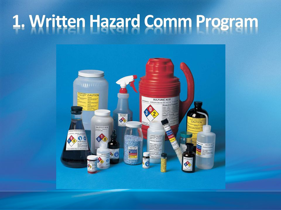 1. Written Hazard Comm Program