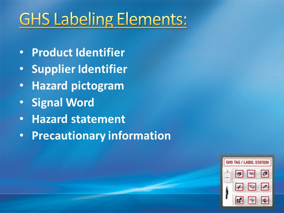 GHS Labeling Elements: