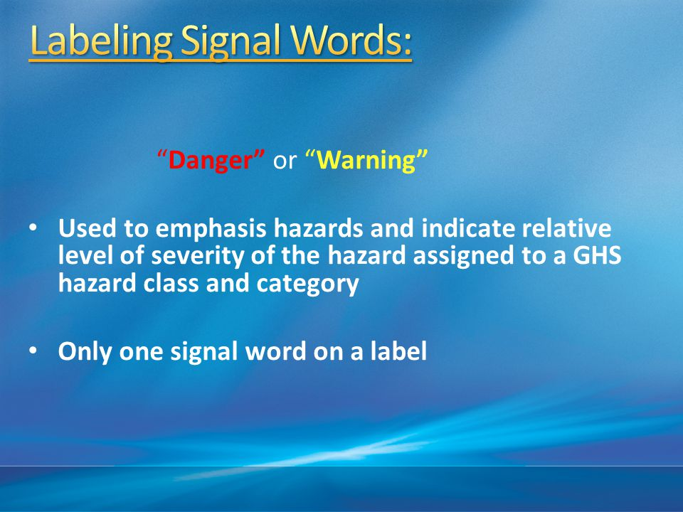 Labeling Signal Words: