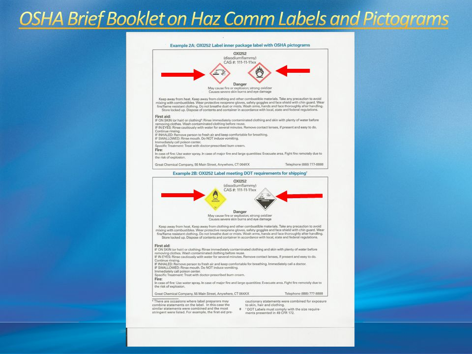 OSHA Brief Booklet on Haz Comm Labels and Pictograms