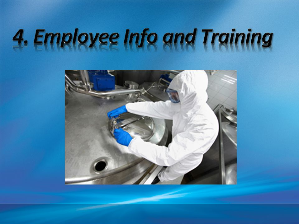 4. Employee Info and Training