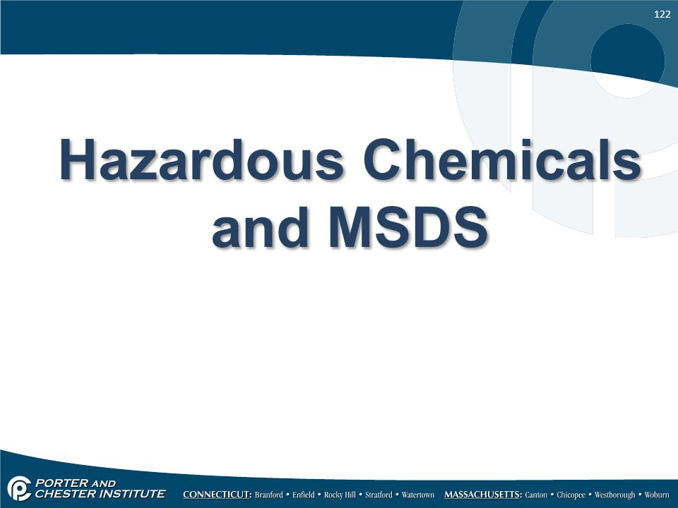 Hazardous Chemicals and MSDS