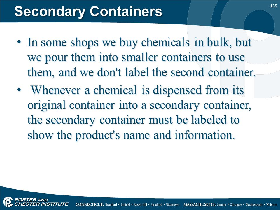 Secondary Containers