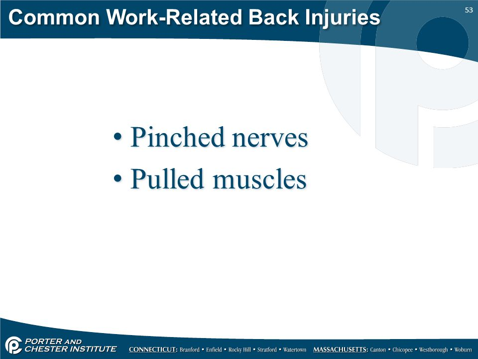 Common Work-Related Back Injuries