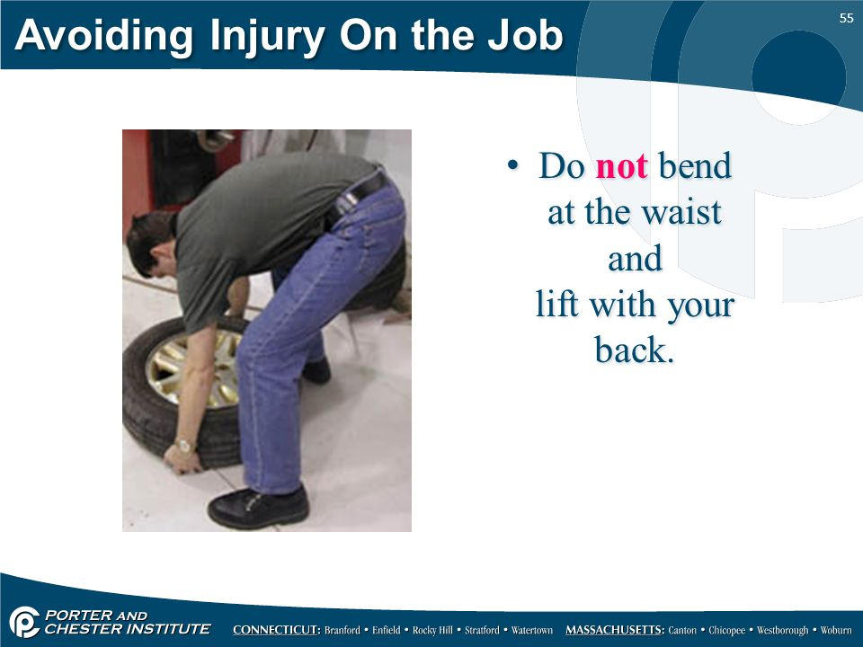 Avoiding Injury On the Job