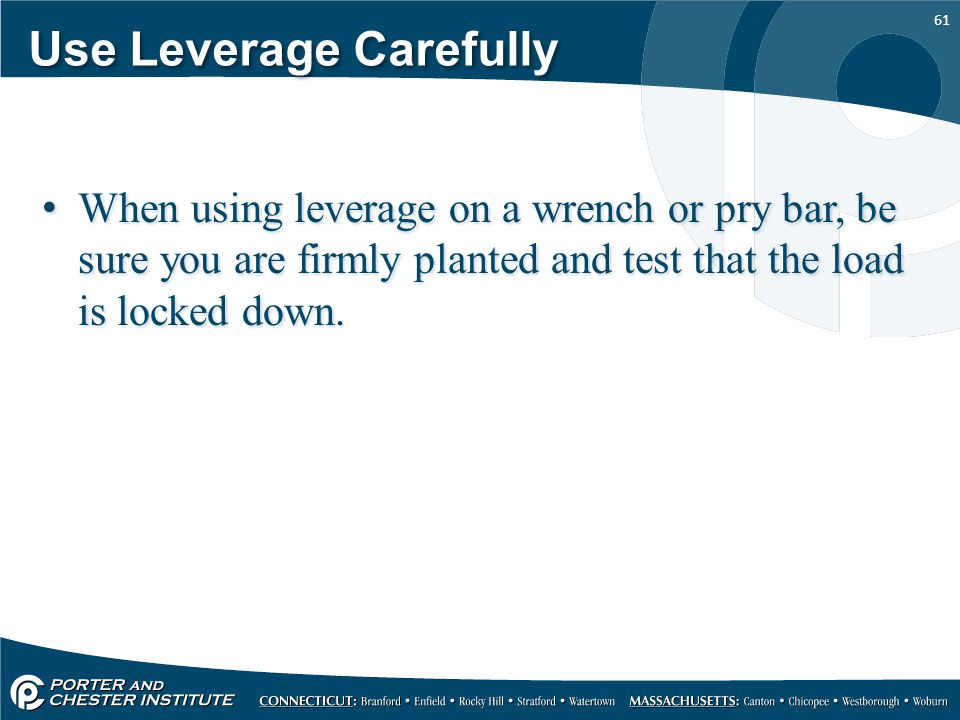 Use Leverage Carefully