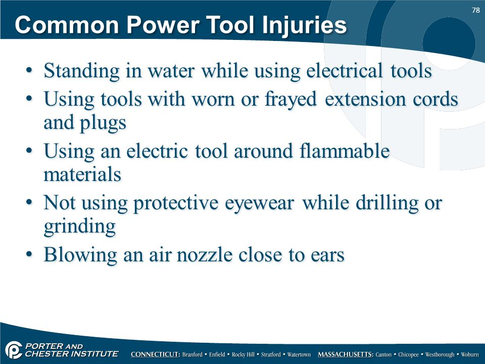 Common Power Tool Injuries