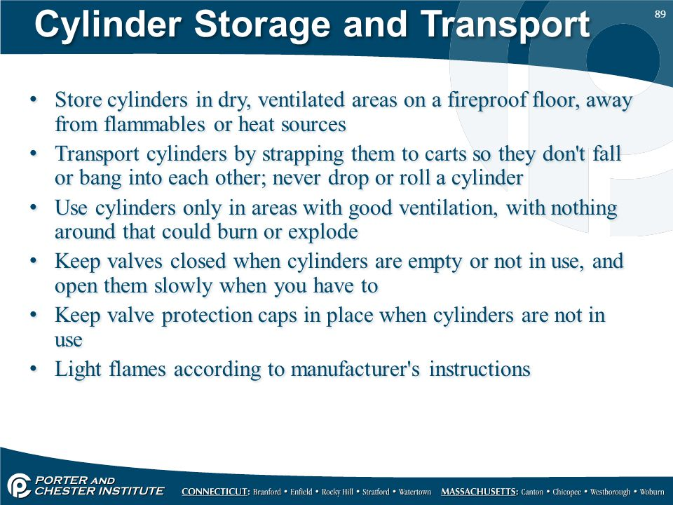 Cylinder Storage and Transport
