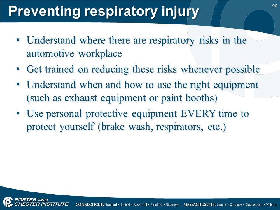 Preventing respiratory injury