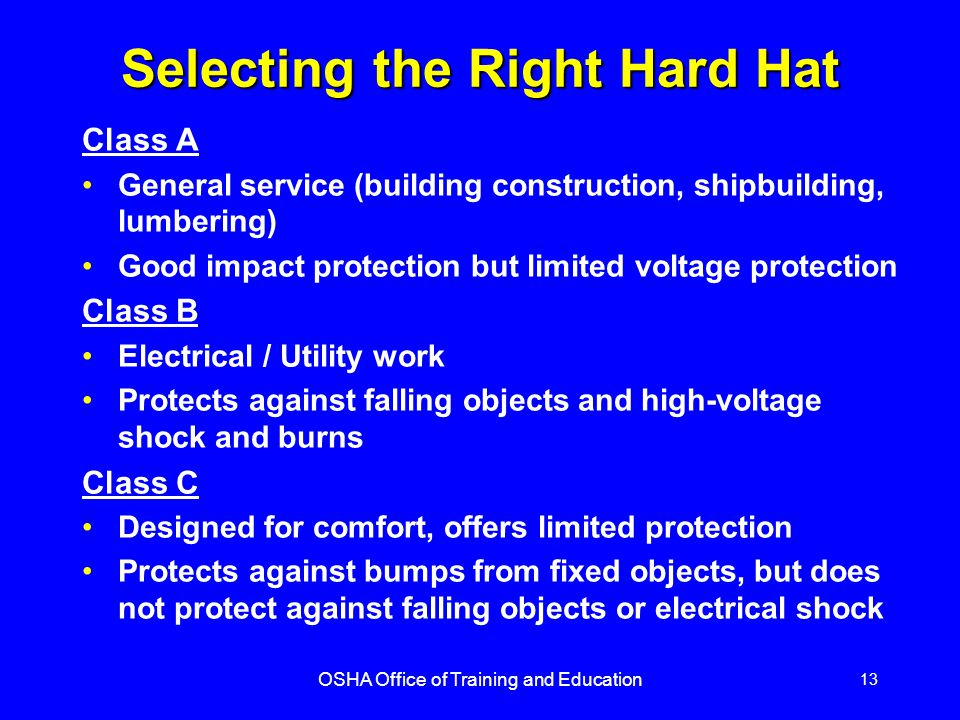 Selecting the Right Hard Hat