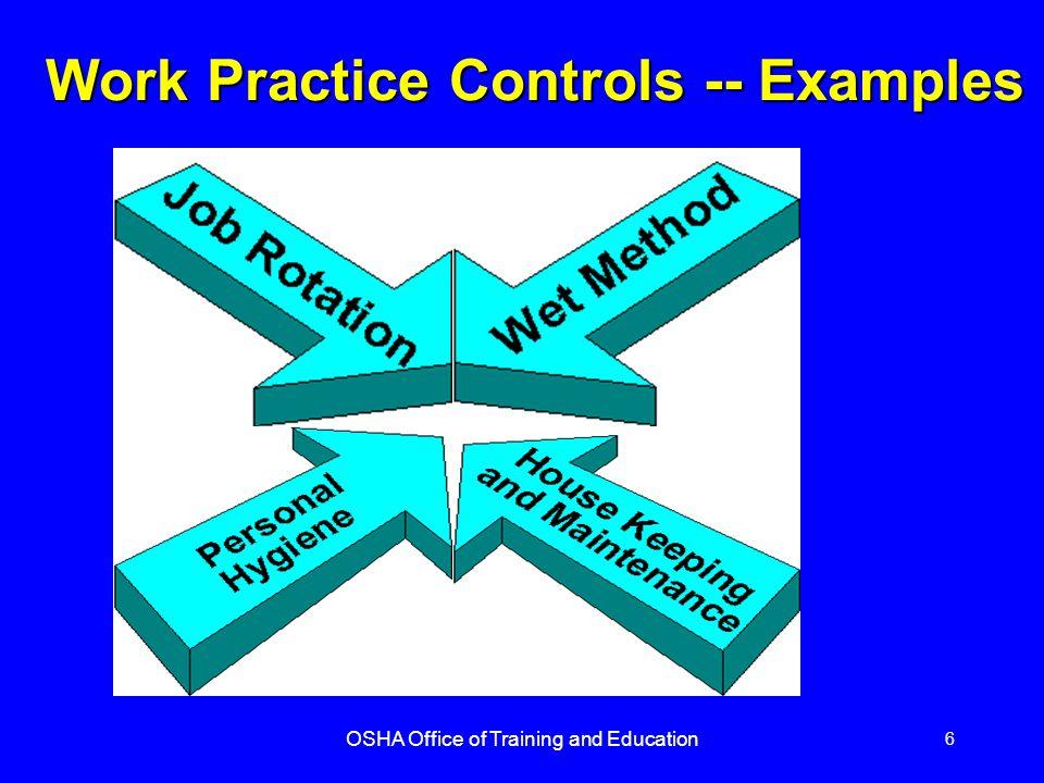 Work Practice Controls -- Examples